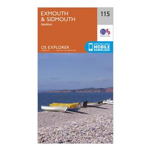 ORDNANCE SURVEY Explorer 115 Exmouth & Sidmouth Map With Digital Version