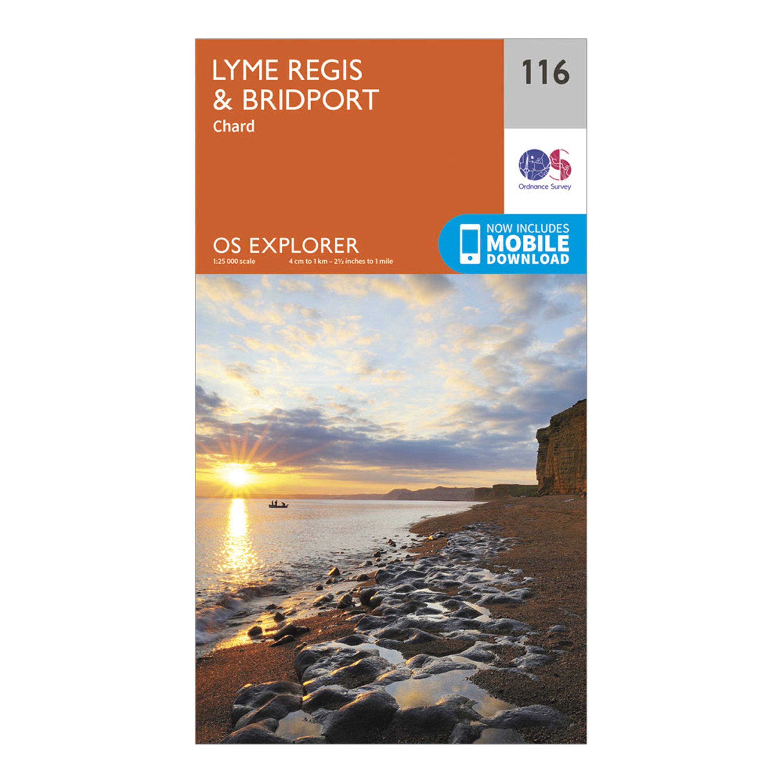 Ordnance Survey Explorer 116 Lyme Regis & Bridport Map With Digital Version, Orange/D