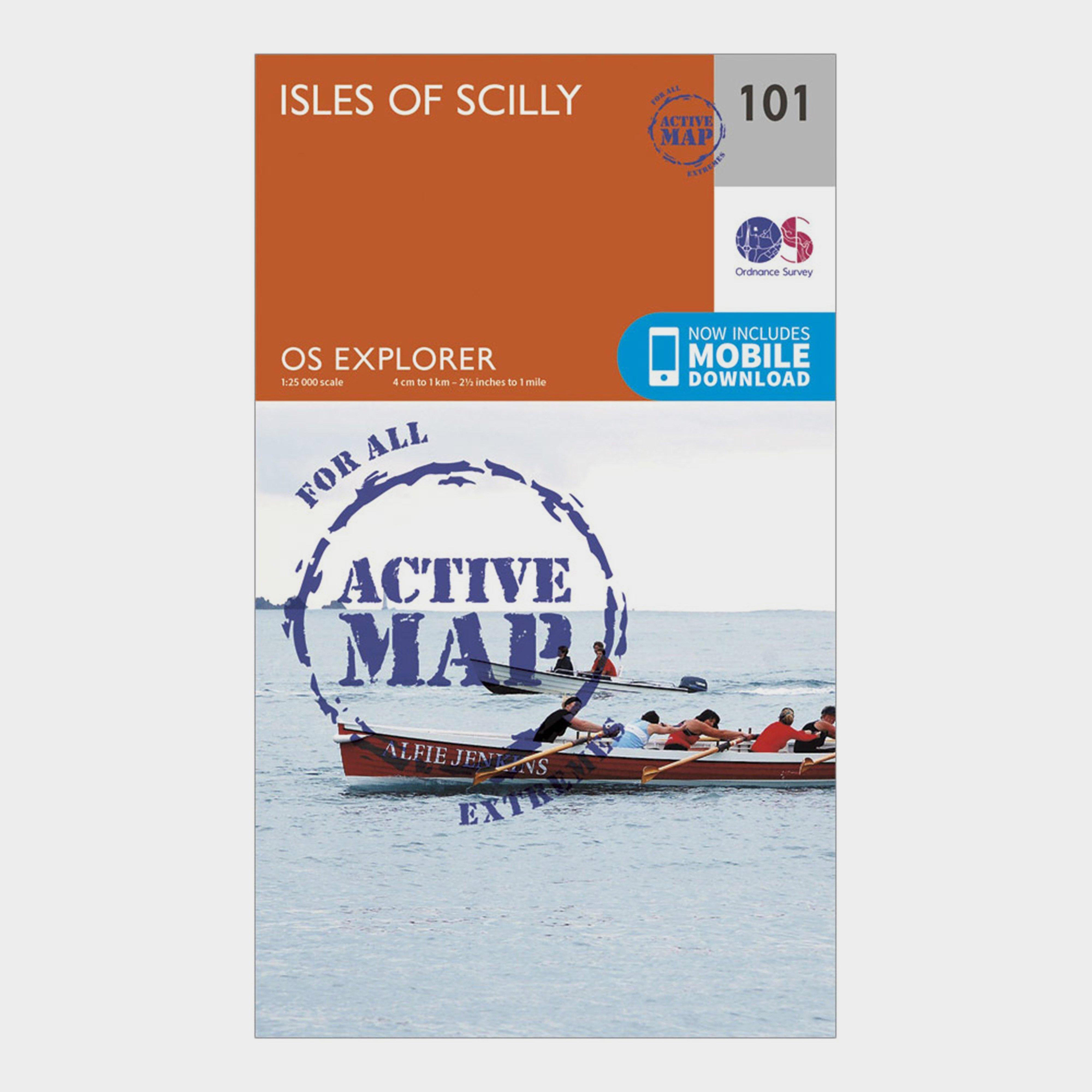Ordnance Survey Explorer Active 101 Isles Of Scilly Map With Digital Version - Orange/d  Orange/d