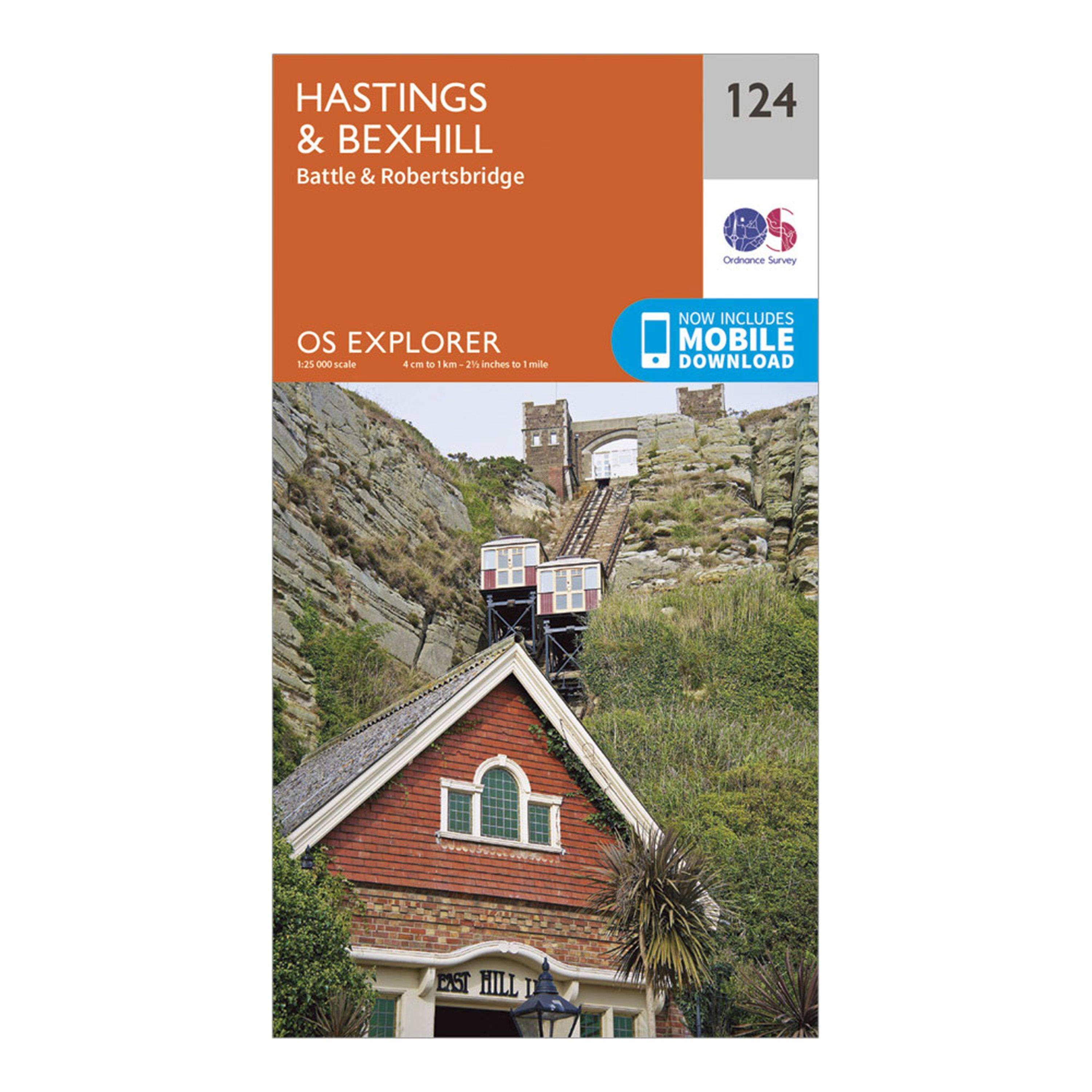 Ordnance Survey Explorer 124 Hastings & Bexhill Map With Digital Version, D/D