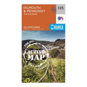 ORDNANCE SURVEY Explorer Active 105 Falmouth & Mevagissey Map With Digital Version