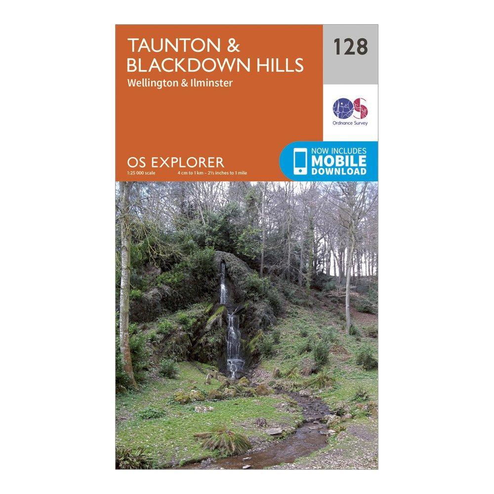 Ordnance Survey Explorer 128 Taunton & Blackdown Hills Map With Digital Version, Orange/D