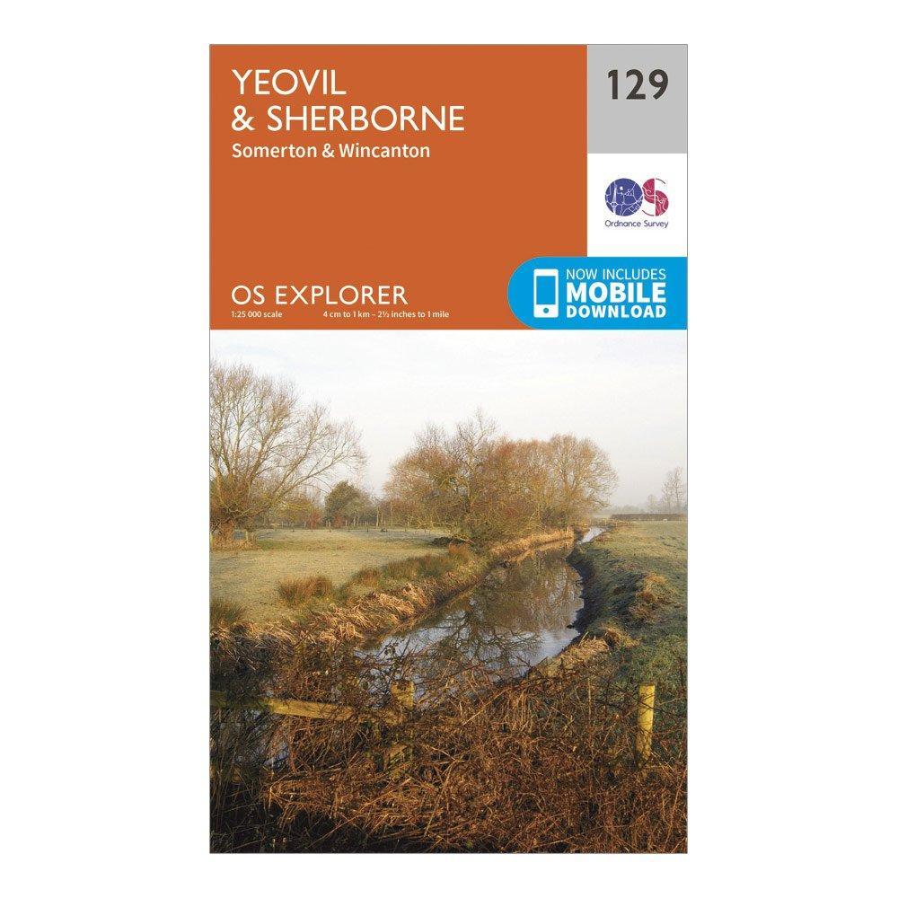 Ordnance Survey Explorer 129 Yeovil & Sherborne Map With Digital Version, Orange/D