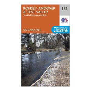 ORDNANCE SURVEY Explorer 131 Romsey, Andover & Test Valley Map With Digital Version