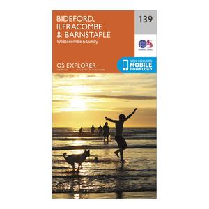 ORDNANCE SURVEY Explorer 139 Bideford, Ilfracombe & Barnstaple Map With Digital Version