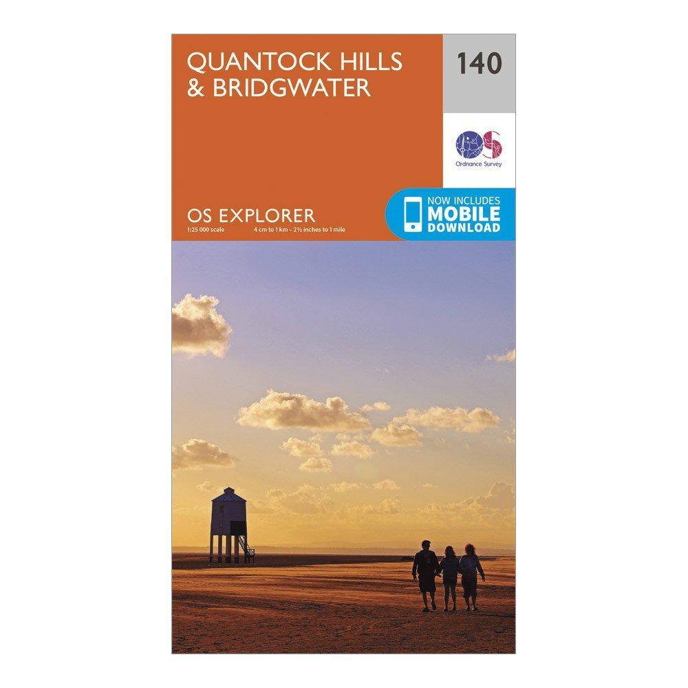 Ordnance Survey Explorer 140 Quantock Hills & Bridgwater Map With Digital Version, Orange/D