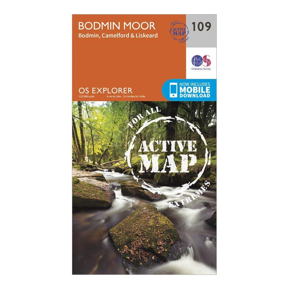 Ordnance Survey Explorer Active 109 Bodmin Moor Map With Digital Version - Orange/d  Orange/d