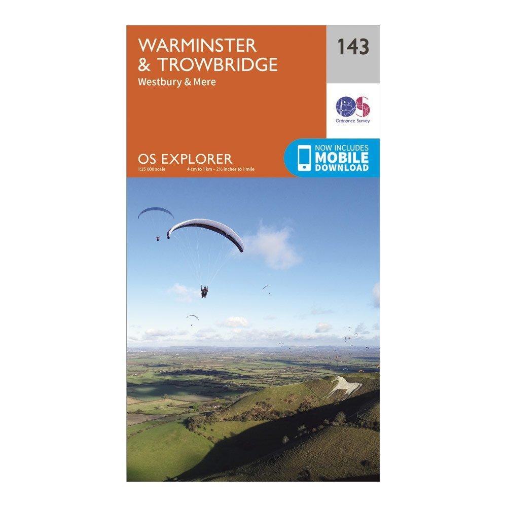 Ordnance Survey Explorer 143 Warminster & Trowbridge Map With Digital Version, Orange/D