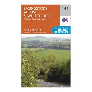 ORDNANCE SURVEY Explorer 144 Basingstoke, Alton & Whitchurch Map With Digital Version