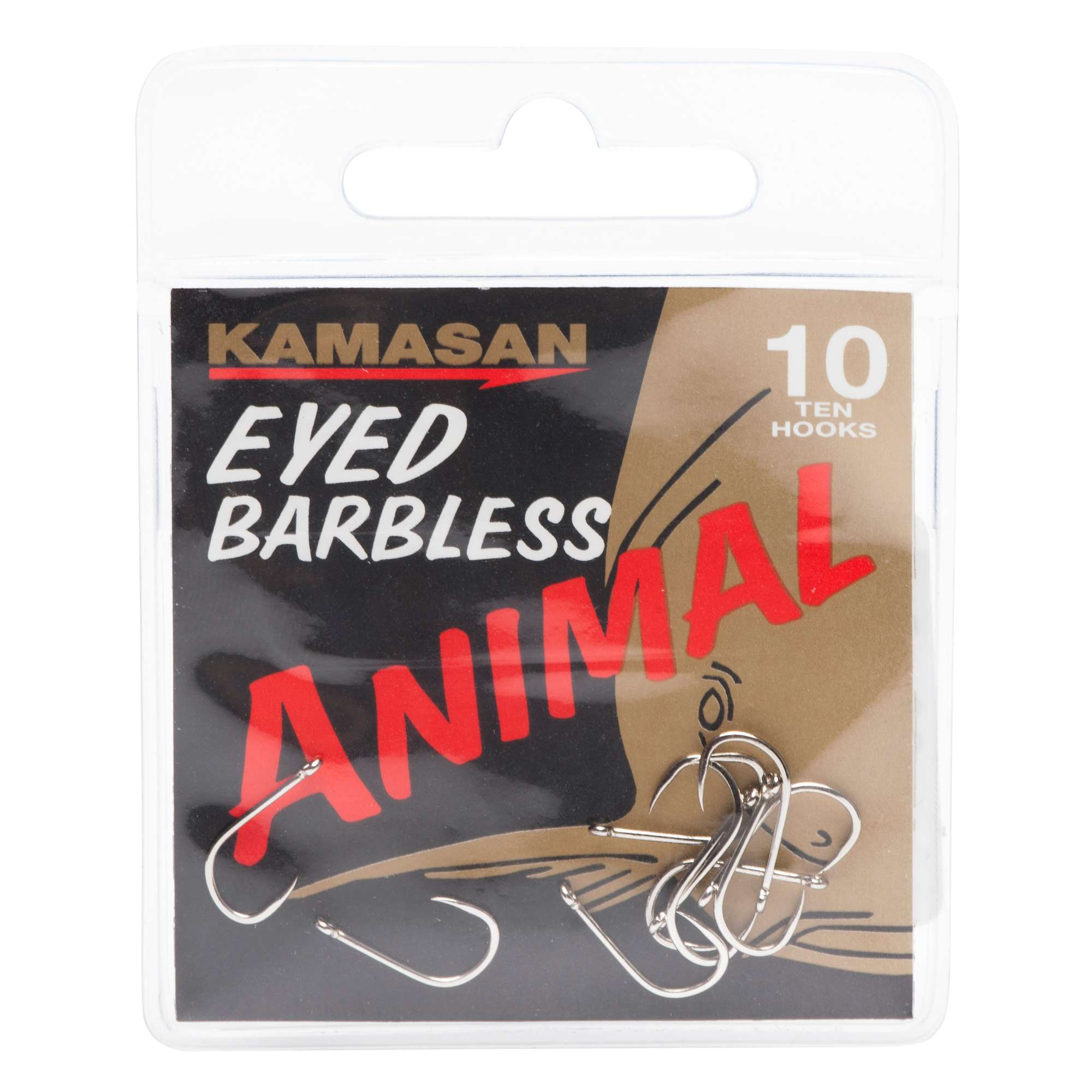KAMASAN Animal Fishing Hooks - Size 10