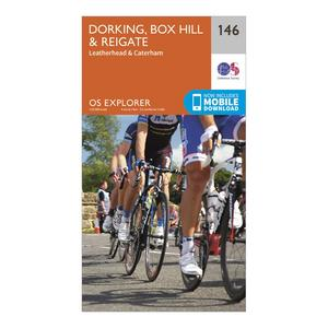 ORDNANCE SURVEY Explorer 146 Dorking, Box Hill & Reigate Map With Digital Version