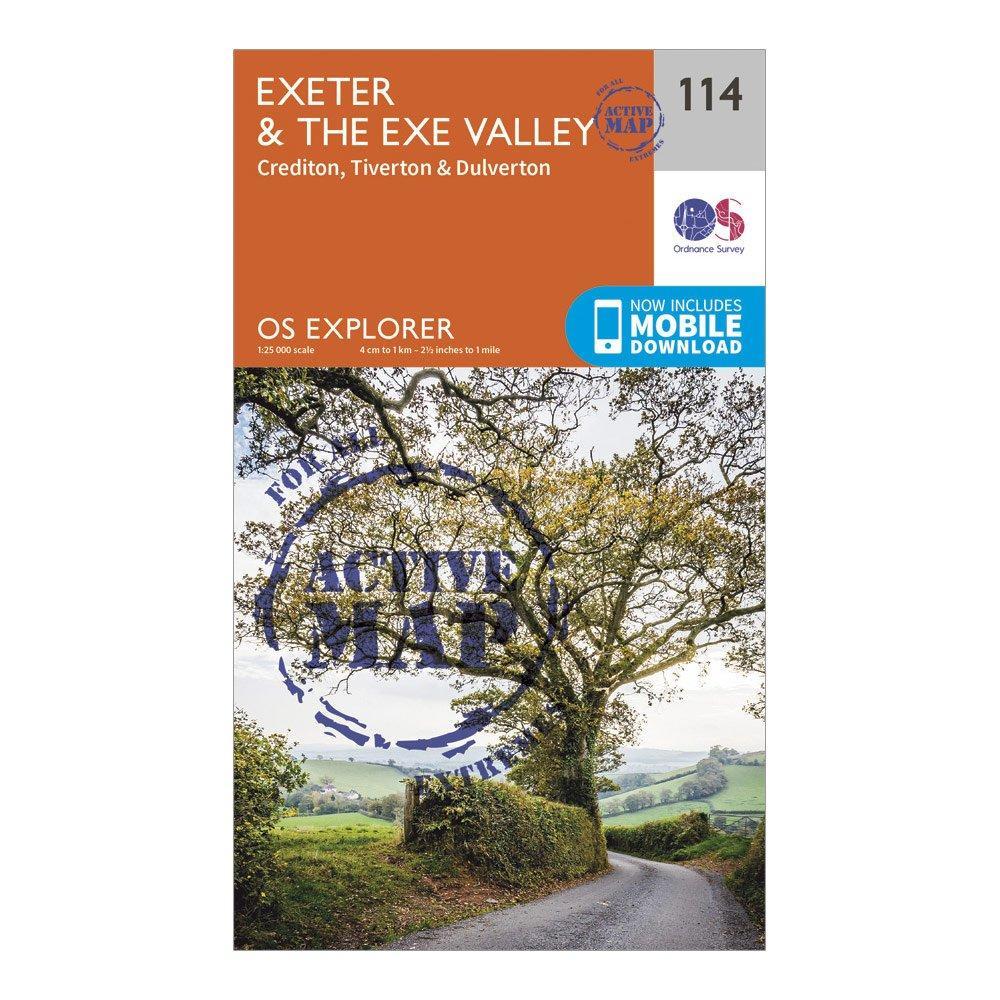 Ordnance Survey Explorer Active 114 ExeterandThe Exe Valley Map With Digital Version - Orange/d  Orange/d