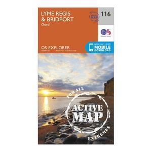 ORDNANCE SURVEY Explorer Active 116 Lyme Regis & Bridport Map With Digital Version