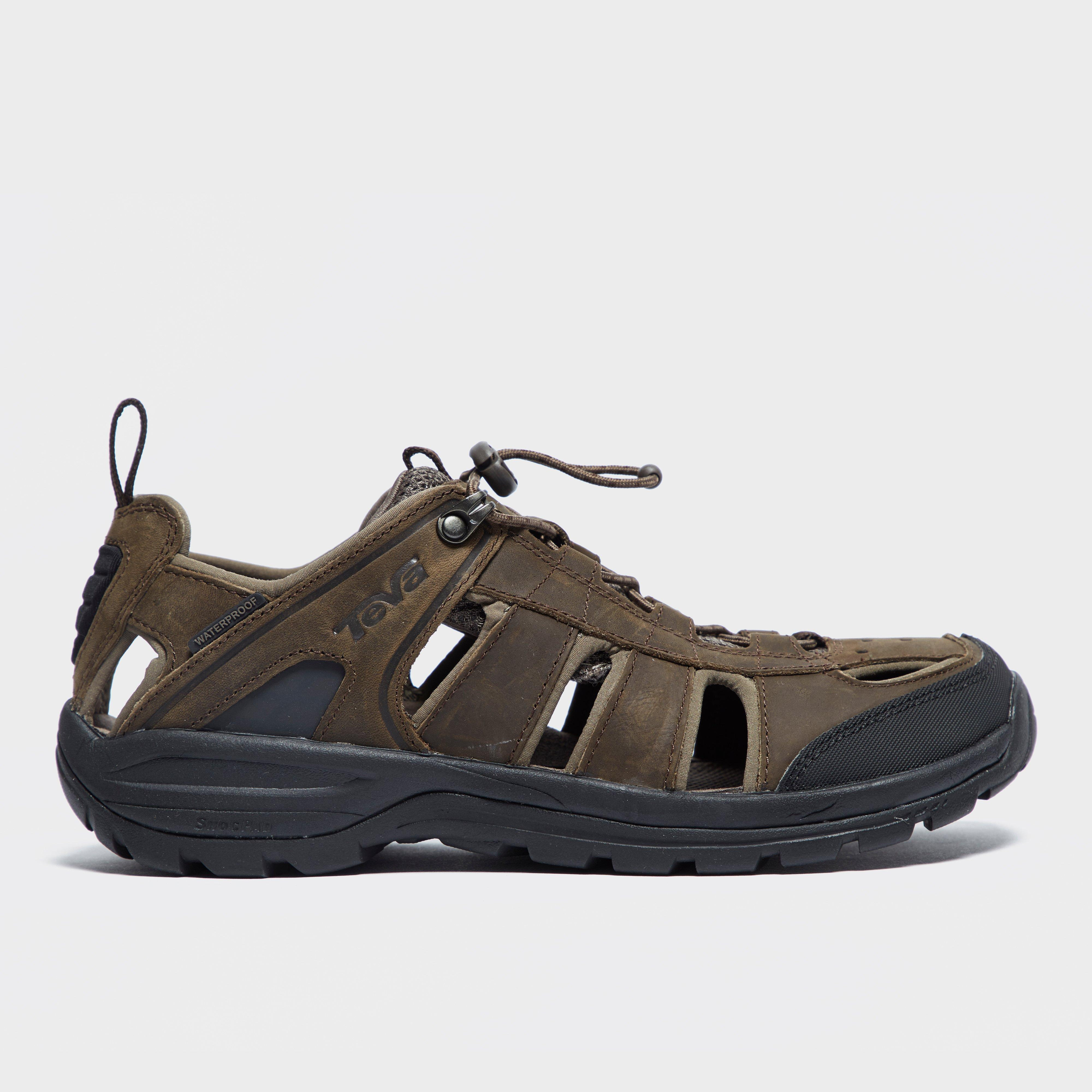 Teva Men S Kimtah Leather Sandal Brown Bear Grylls Uk