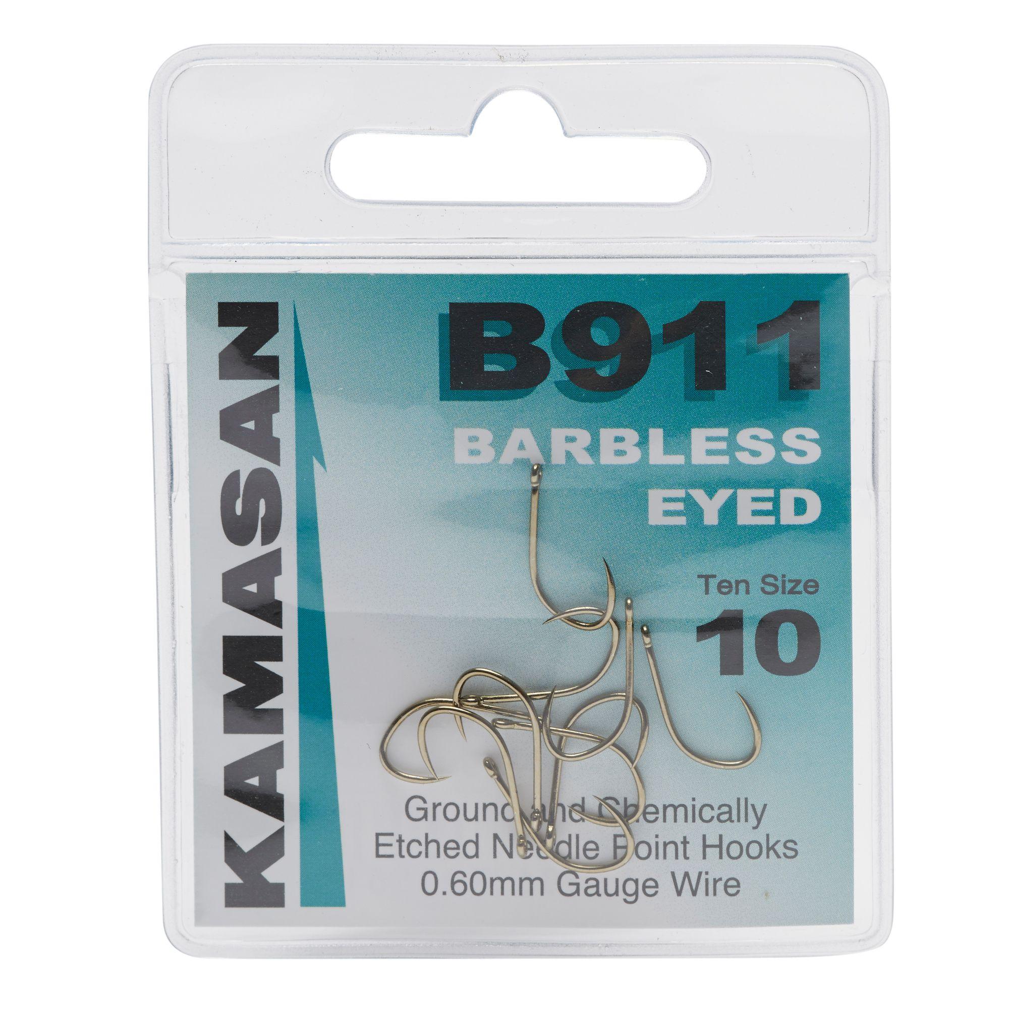 KAMASAN B911 Extra Strong Eyed Fishing Hooks - Size 10