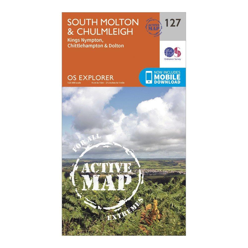 Ordnance Survey Explorer Active 127 South MoltonandChulmleigh Map With Digital Version - D/d  D/d