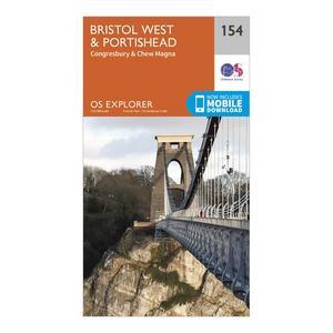 ORDNANCE SURVEY Explorer 154 Bristol West & Portishead Map With Digital Version