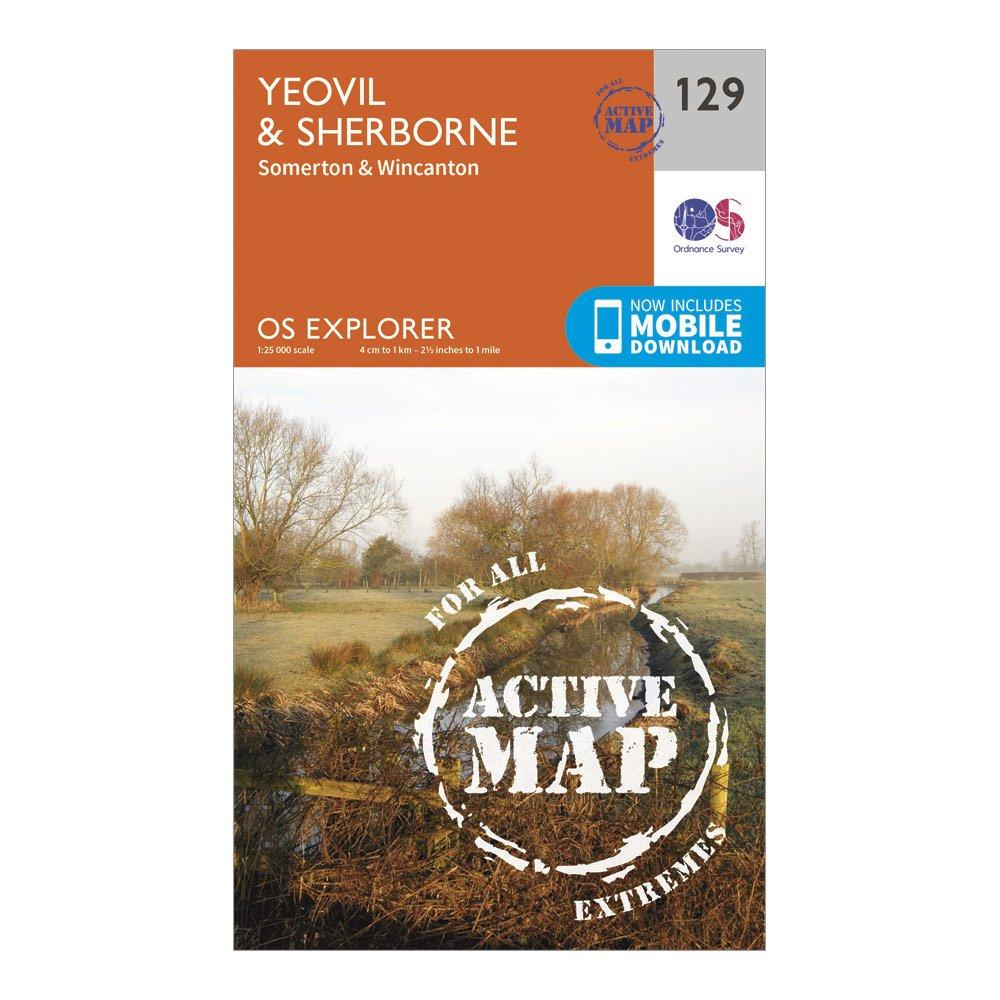 Ordnance Survey Explorer Active 129 YeovilandSherbourne Map With Digital Version - Orange/d  Orange/d