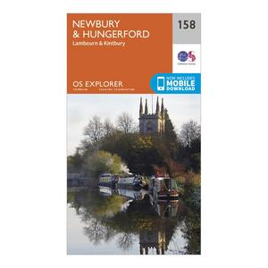 ORDNANCE SURVEY Explorer 158 Newbury & Hungerford Map With Digital Version