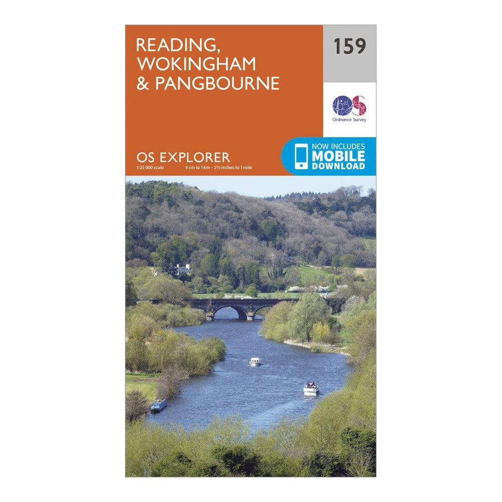 Ordnance Survey Explorer 159 Reading, Wokingham & Pangbourne Map With Digital Version, D/D