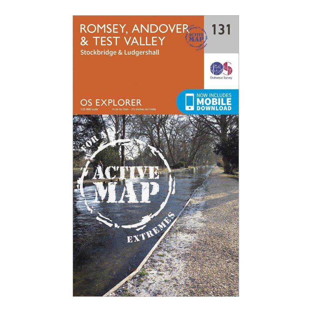Ordnance Survey Explorer Active 131 Romsey  AndoverandTest Valley Map With Digital Version - Orange/d  Orange/d