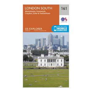 ORDNANCE SURVEY Explorer 161 London South Map With Digital Version
