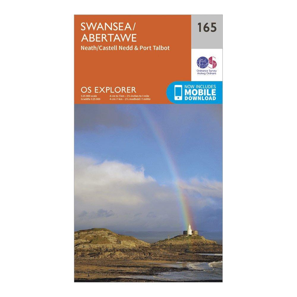 Ordnance Survey Explorer 165 Swansea, Neath & Port Talbot Map With Digital Version, Orange/D