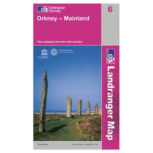 ORDNANCE SURVEY Landranger 6 Orkney - Mainland Map