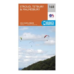 ORDNANCE SURVEY Explorer 168 Stroud, Tetbury & Malmesbury Map With Digital Version