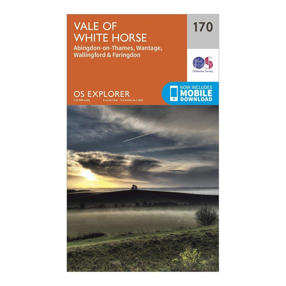Ordnance Survey Explorer 170 Abingdon, Wantage & Vale of White Horse Map With Digital Version, Orange/D