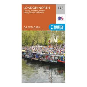 ORDNANCE SURVEY Explorer 173 London North Map With Digital Version
