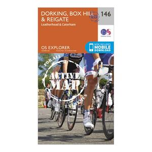 ORDNANCE SURVEY Explorer Active 146 Dorking, Box Hill & Reigate Map With Digital Version