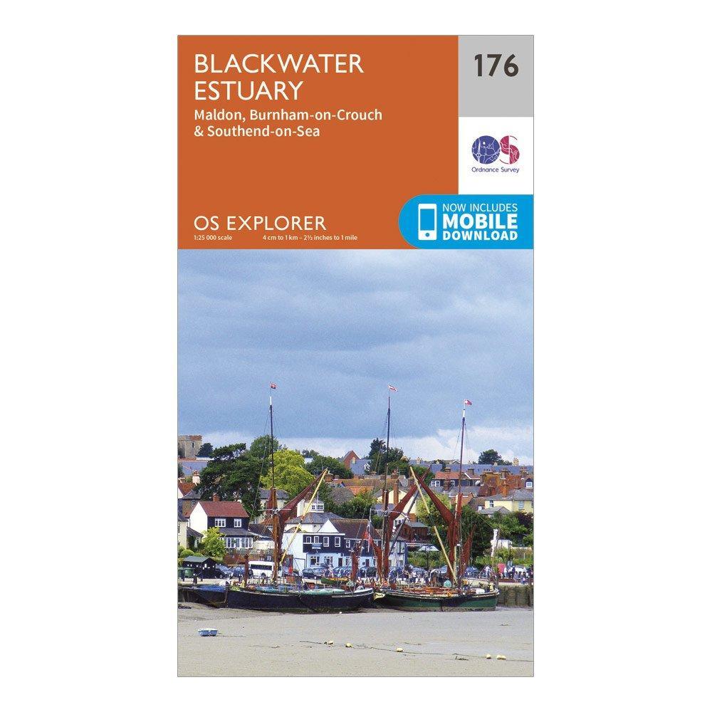 Ordnance Survey Explorer 176 Blackwater Estuary Map With Digital Version - Orange/d  Orange/d