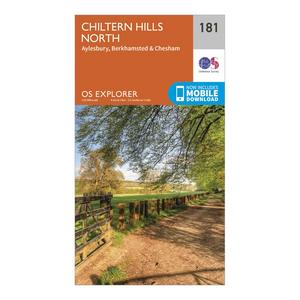 ORDNANCE SURVEY Explorer 181 Chiltern Hills North Map With Digital Version