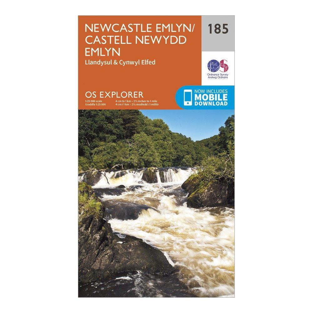 Ordnance Survey Explorer 185 Newcastle Emlyn, Llandysul & Cynwyl Elfed Map With Digital Version, Orange/D