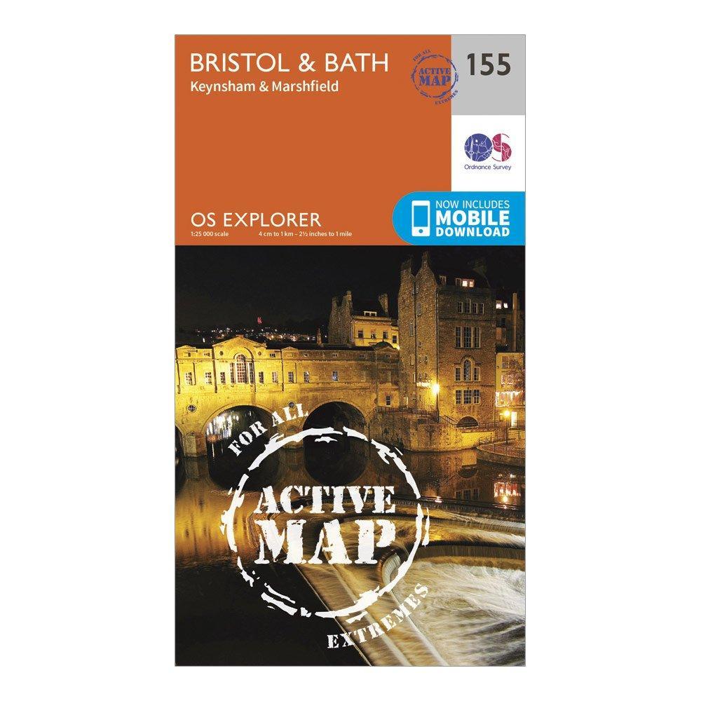 Ordnance Survey Explorer Active 155 BristolandBath Map With Digital Version - Orange/d  Orange/d
