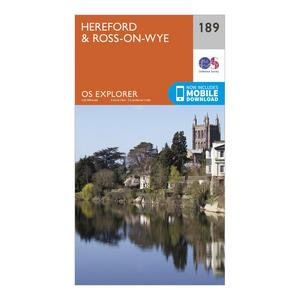 ORDNANCE SURVEY Explorer 189 Hereford & Ross-on-Wye Map With Digital Version