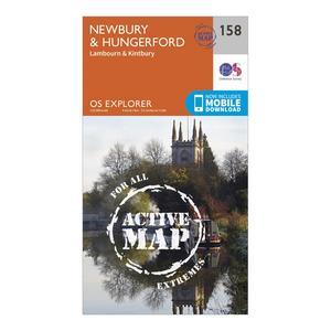 ORDNANCE SURVEY Explorer Active 158 Newbury & Hungerford Map With Digital Version