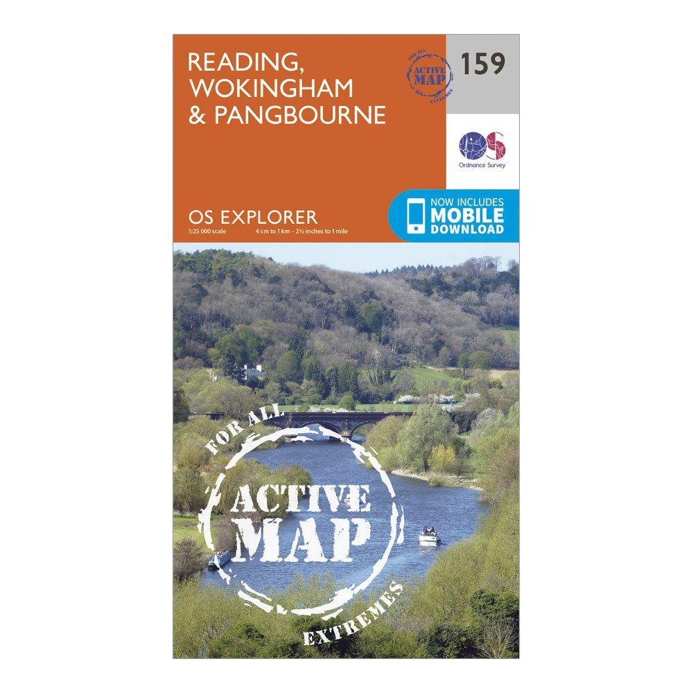 Ordnance Survey Explorer Active 159 Reading  WokingshireandPangbourne Map With Digital Version - Orange/d  Orange/d