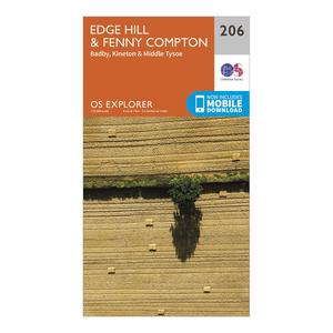 ORDNANCE SURVEY Explorer 206 Edge Hill & Fenny Compton Map With Digital Version