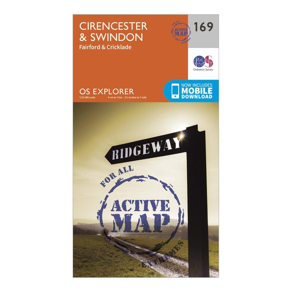 Ordnance Survey Explorer Active 169 CirencesterandSwindon Map With Digital Version - D/d  D/d