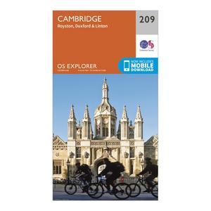 ORDNANCE SURVEY Explorer 209 Cambridge, Royston, Duxford & Linton Map With Digital Version