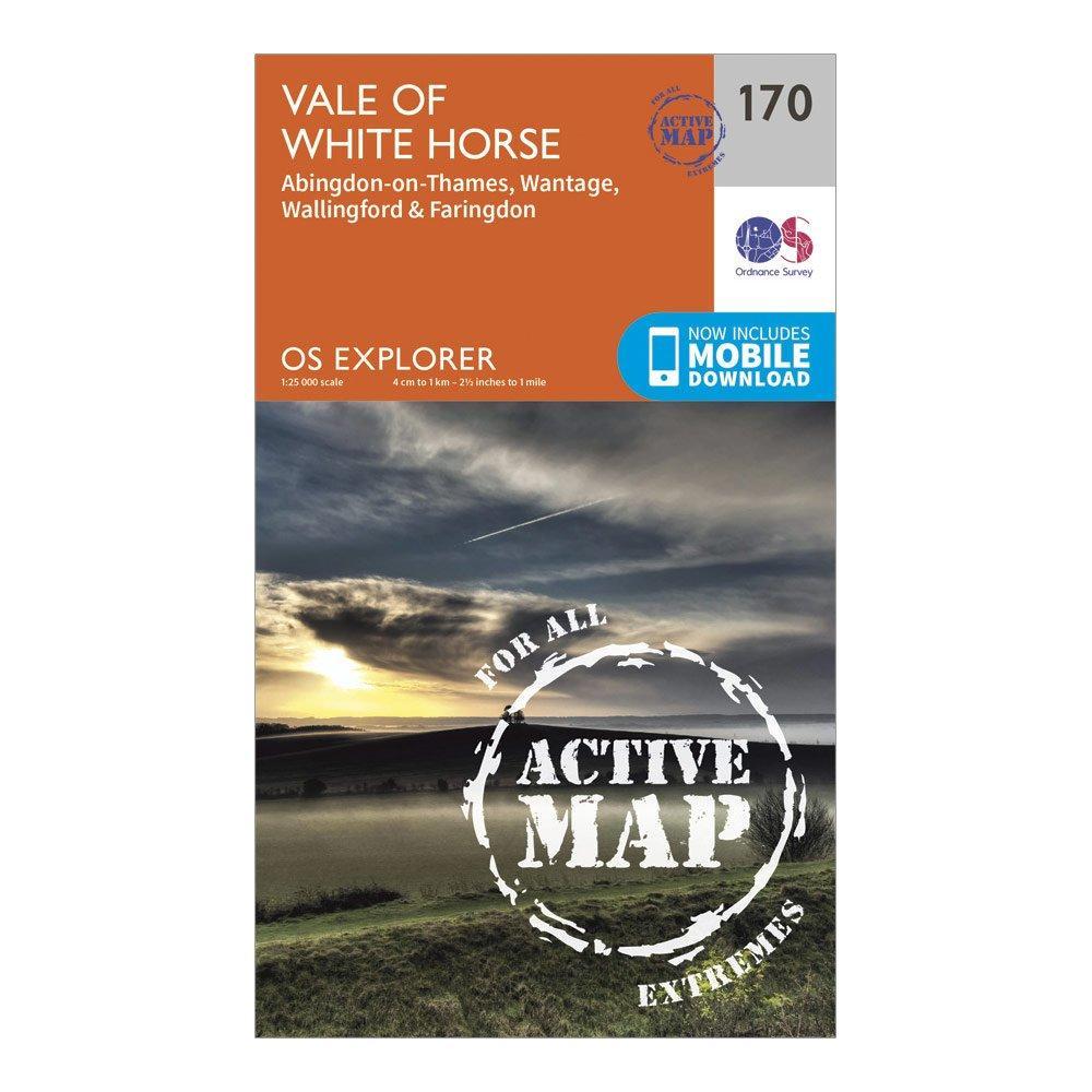 Ordnance Survey Explorer Active 170 Abingdon  WantageandVale Of White Horse Map With Digital Version - Orange/d  Orange/d