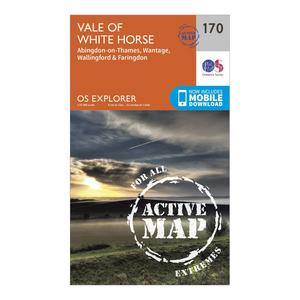 ORDNANCE SURVEY Explorer Active 170 Abingdon, Wantage & Vale of White Horse Map With Digital Version