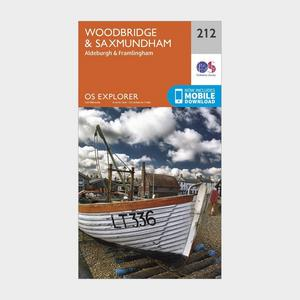 ORDNANCE SURVEY Explorer 212 Woodbridge & Saxmundham Map With Digital Version