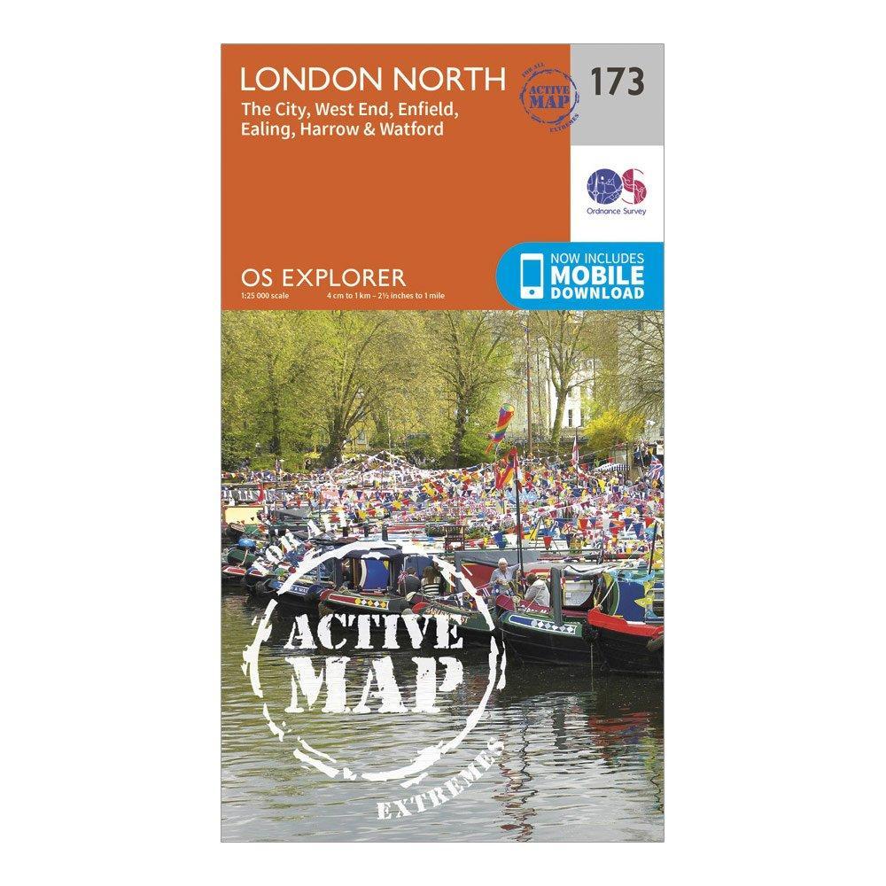 Ordnance Survey Explorer Active 173 London North Map With Digital Version - D/d  D/d