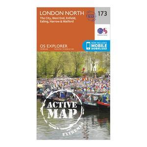 ORDNANCE SURVEY Explorer Active 173 London North Map With Digital Version