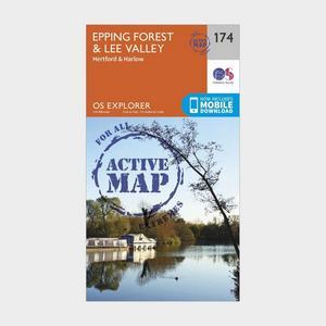 ORDNANCE SURVEY Explorer Active 174 Epping Forest & Lee Valley Map With Digital Version