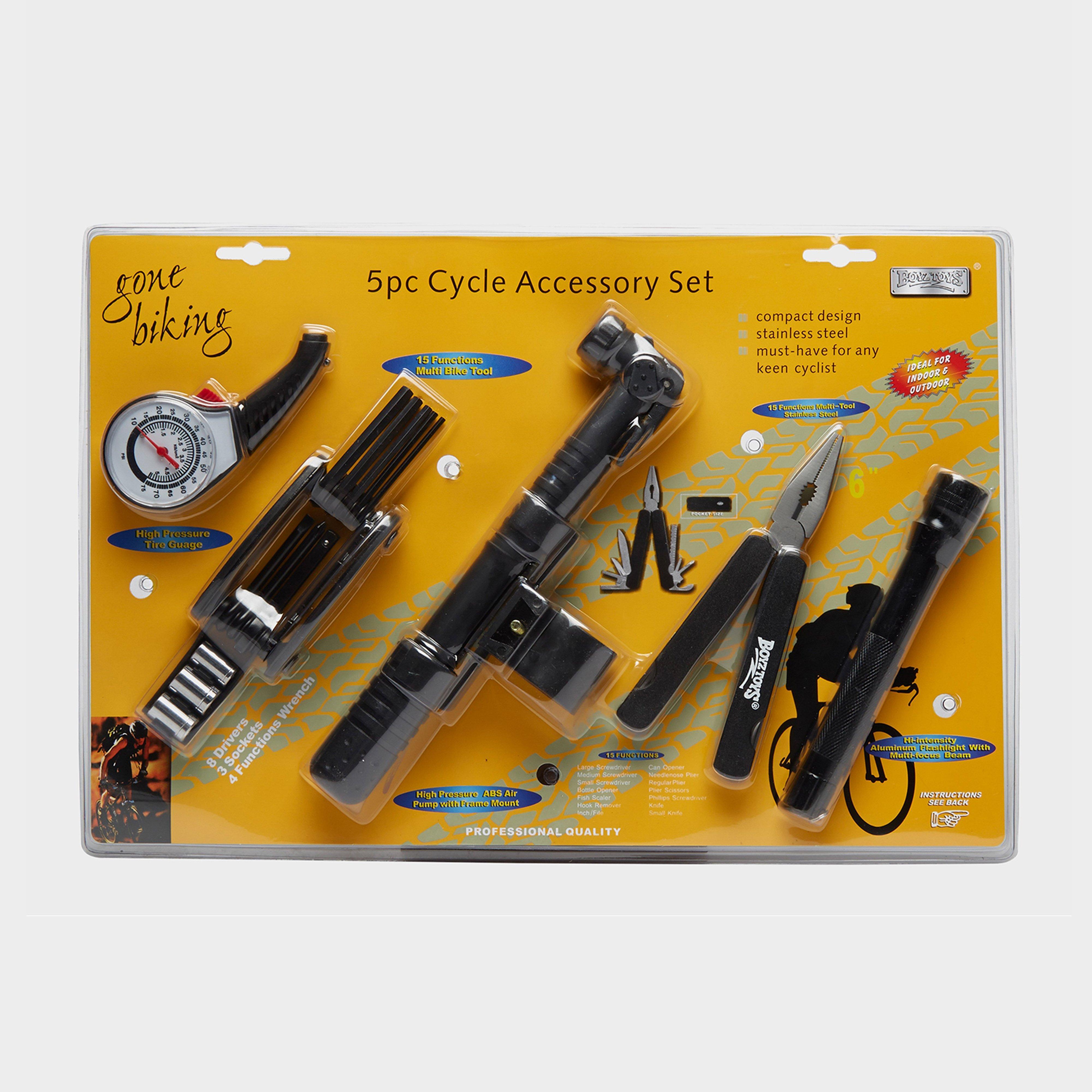 Boyz Toys 5 Piece Cycle Accessory Set - Black, Black