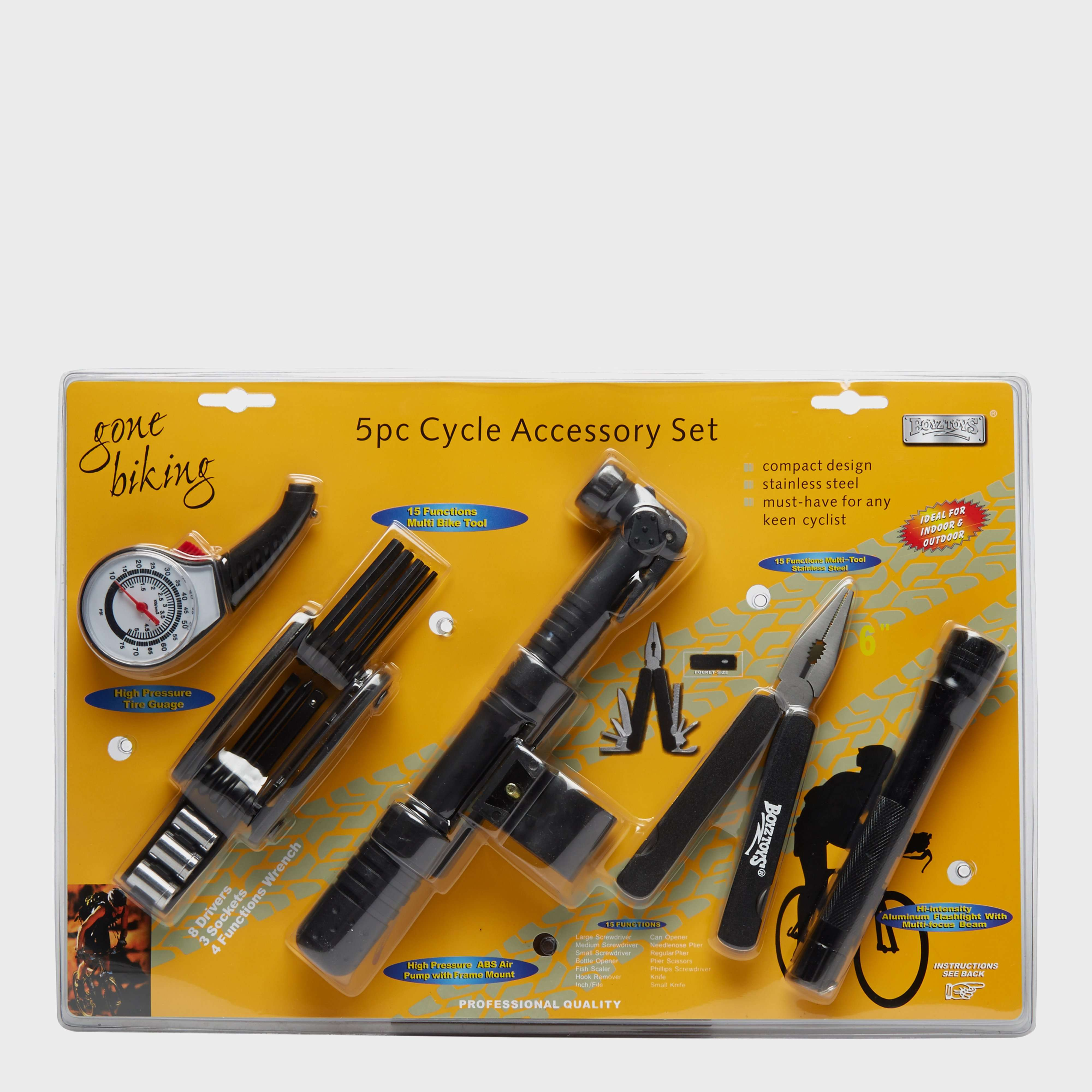 BOYZ TOYS 5 Piece Cycle Accessory Set
